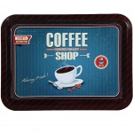 Coffee Shop metal tray 40 x 30 cm