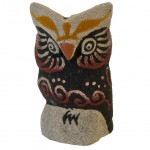 Owl decoration in sand - 9 cm