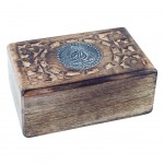 Rectangular carved box - Buddha