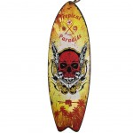 TROPICAL PARADISE SKULL Surfboard wooden wall decoration
