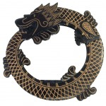 Dragon Round mirror hanging