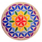 Flower Of Life wooden plate 24 cm