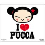 I LOVE PUCCA mouse pad