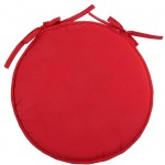 Red Polyester Round Chair Cushion