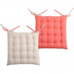 chair cushion - reversible - Lin and Coral 40 cm