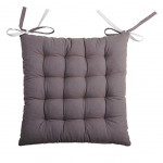 chair cushion - 2 sides - Grey and ecru 40 cm