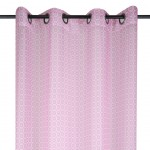 Pink and Grey Eyelets sheer curtain