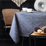 Embroidered rectangular tablecloth Kolam 140 x 140 cm