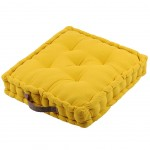 Cotton Floor Cushion Yellow 45 cm