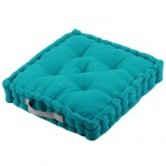 Cotton Floor Cushion Blue 45 cm