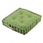 Cotton Floor Cushion Green 45 cm