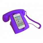 Retro Smartphone support with its purple combined