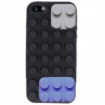 Soft silicon case black Blocks for Iphone 5 séries
