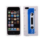 Iphone silicone white shell 5 audiocassette.