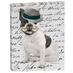 Bulldog Canvas frame  30 x 40 cm - made in france