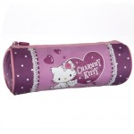 Charmmy Kitty purple round pencil case