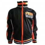Fiers d&#39Etre Marseillais Orange and Black Track Jacket