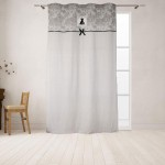 Black Dress Eyelets Curtain