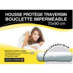 Waterproof terry bolster protective cover - 90 x 70 cm
