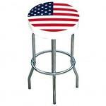 USA Flag bar stool