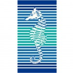 Jacquard cotton velvet towel 170 x 95 cm - Sea Horse