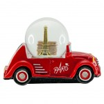 Car Paris small snow globe