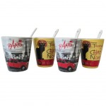 Espresso set Paris and Le chat noir