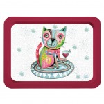 Allen Desings Cat Wine little tray 35 x 24 cm