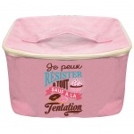Small cool bag lunch box 24 x 15 x 15 cm - Pink