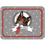 Happy Cat Metal tray 25 x 36 cm