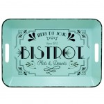 Bistrot green metal tray