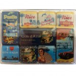 Set of 9 magnets - French Riviera
