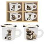 Espresso Set - 4 cups - Dogs
