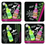 TEQUILA Box of 4 coasters