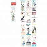 Calendar Bookmarks Year 2018 -16 x 4 cm