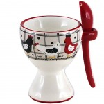 Ceramic Egg Cup with spoon - MAGALLI Collection