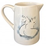 Cat shadow ceramic pitcher