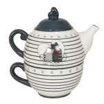 Cats in Love ceramic solitary teapot
