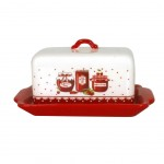Strawberries jam butter dish