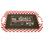 """Au bistrot wine bar"" tray 41 x 28 cm"
