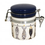 Ceramic salt pot with spoon - DORY