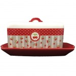Cherries Red butter dish
