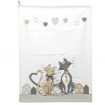 Cats In Love Kitchen towels 45 x 60 cm