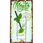 Mojito wooden wall decoration to hang 24 x 48 cm