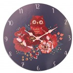 Owls wall clock 30 cm