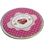 French Delicacies glass coaster