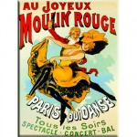 Paris Moulin Rouge metal magnet