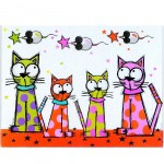 Cats and Stars Cutting board
