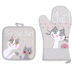 Cats potholder and glove set