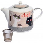 Cats Teapot - with metal infuser